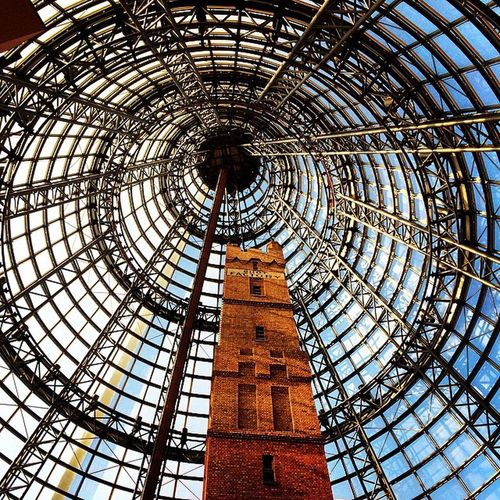 Discover Melbourne Architecture Built Structure Low Angle View Indoors  No People Travel Destinations Day Concentric Sky History Tower Melbourne Australia City City Town Perspective Photography Perspective