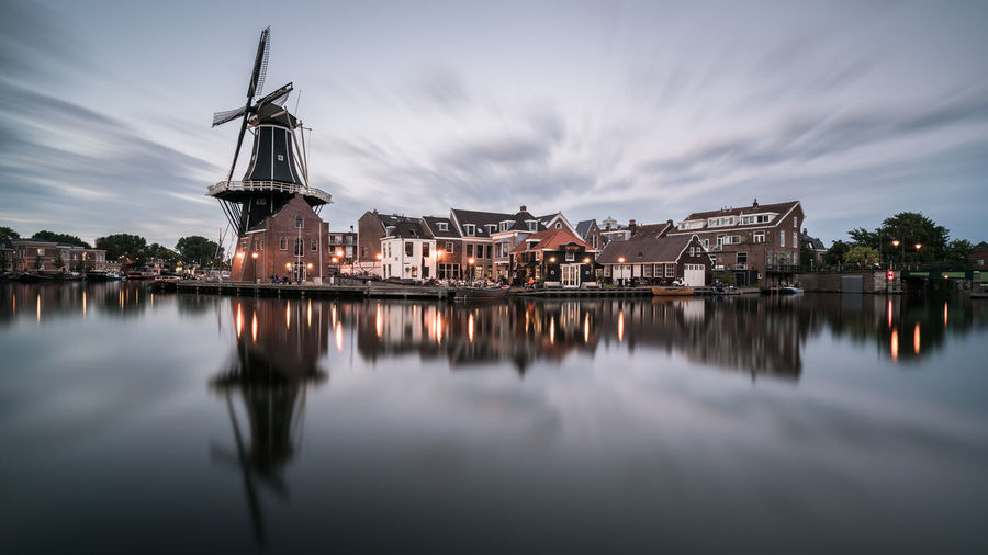 Catch the Wind Dutch Cities Haarlem ND Filter Nederland Netherlands Reflection Skyline Alternative Energy Architecture Building Exterior Built Structure Dutch Holland Long Exposure Outdoors Renewable Energy Sky Spaarne Traditional Windmill Urban Urban Skyline Water Waterfront Wind Power Windmill