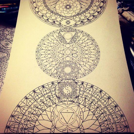 YohkoAmaterraArt ArtWork Mandala マンダラ 曼荼羅 Drawing My Art Work Art Mandalas Illustration