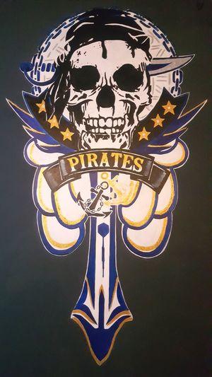 we are pirates... darts team logo in the wall nice Logo team 😎 Logodesign Logointhewall Dartsteamlogo Black Background Human Skull People