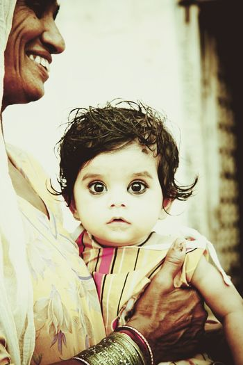 India Rajasthandiaries Child Mother Two People Portrait Childhood Outdoors People Traditional Clothing Wide Eyes Curious Kids