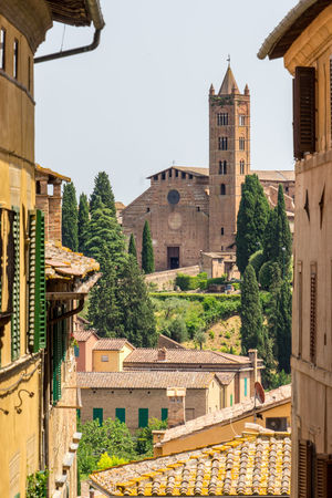 Shot in the city of Siena, Italy Architecture Belief Building Building Exterior Built Structure City Clear Sky Day History Nature No People Outdoors Place Of Worship Plant Religion Residential District Sky Spirituality The Past Town Tree