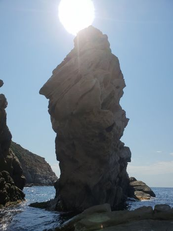 calvi Water Mountain Sea Sunlight Blue Sun Rock - Object Sunny Lens Flare Rock Formation Eroded Natural Landmark