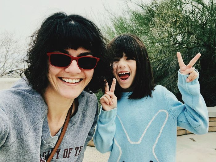 Hanging out in the desert. Portrait Smiling Glasses Sunglasses Happiness Fashion Moms & Dads Women Looking At Camera Real People Headshot Leisure Activity Two People Emotion Young Women Togetherness People Front View Lifestyles Bonding Females