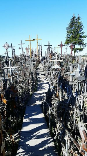 The hill of crosses Mountain Sunny Day Nature Walking Piligrim Wonderful EyeEm Team View The City Love My Life ❤