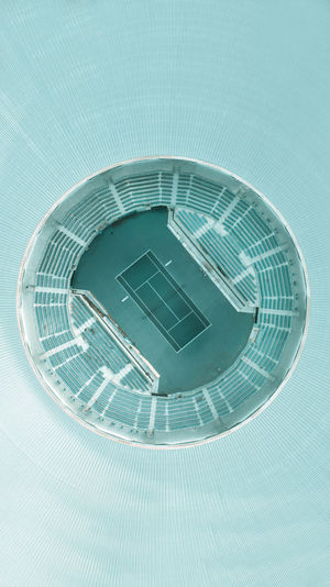 Circle Architecture Building Dji DJI Phantom 4 Drone  Minimalism Blue Outdoors Stadium Greece Athens Olympic Stadium Digital Composite Shape Circle Building Exterior Geometric Shape Metal Day Built Structure No People Nature Staircase Water Low Angle View Reflection Pattern Ladder Swimming Pool Skyscraper
