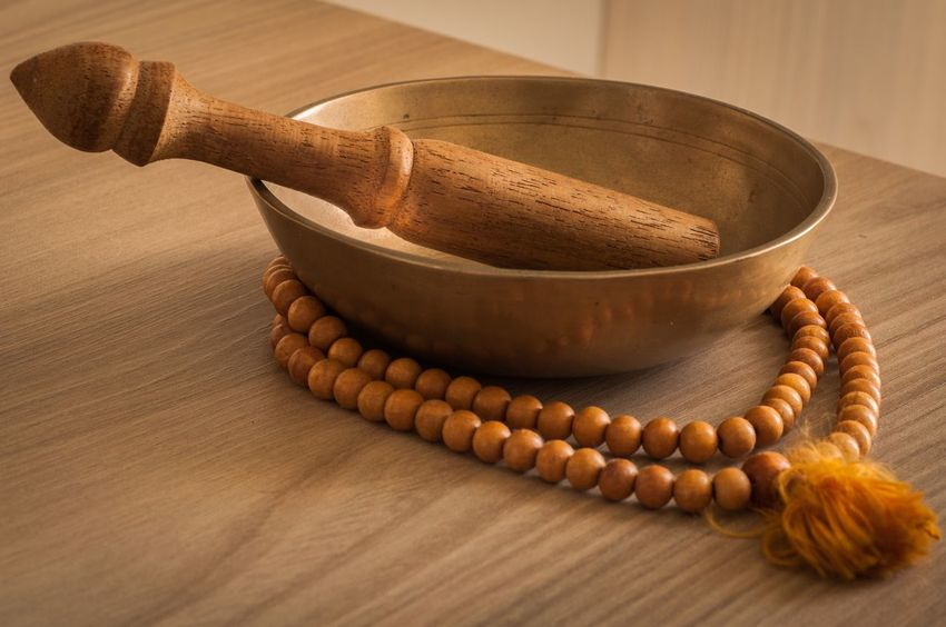 Still Life Wood - Material Table Indoors  No People Close-up Tibetan Buddhism