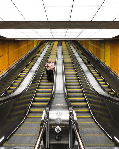 Paint The Town Yellow The Week On EyeEm Simplicity Underground Architecture One Person EyeEmNewHere Modern Streetphotography Yellow Color