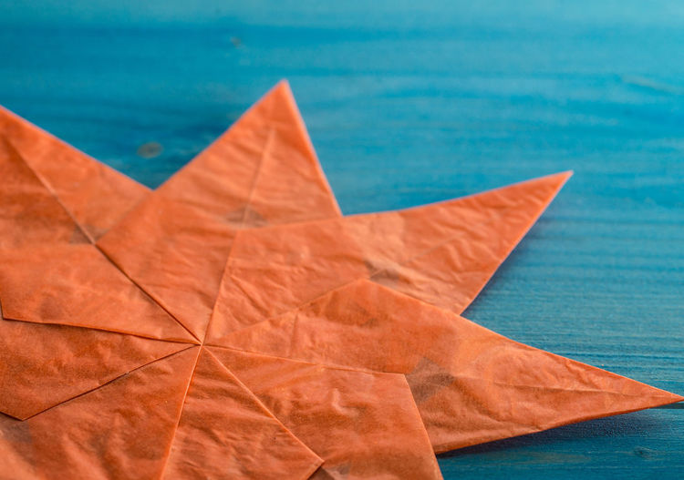 Close-up of paper star