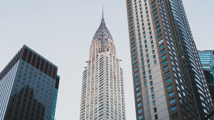 Chrysler Building Manhattan Architecture Building Exterior Built Structure City Cityscape Downtown District Low Angle View Modern No People Skyscraper Tall Tall - High Tower Travel Destinations Urban Skyline