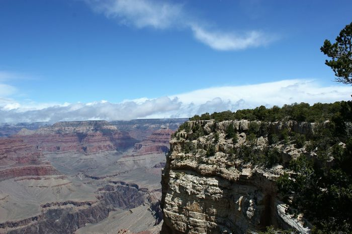 Grand Canyon, Arizona Arizona Landscape Clouds Over Grand Canyon Grand Canyon Grand Canyon National Park Grand Canyon Weather Grand Canyon, South Rim Beauty In Nature Day Geology Grand Canyon, Az Landscape Mountain Nature No People Outdoors Physical Geography Scenics Tranquil Scene Tranquility
