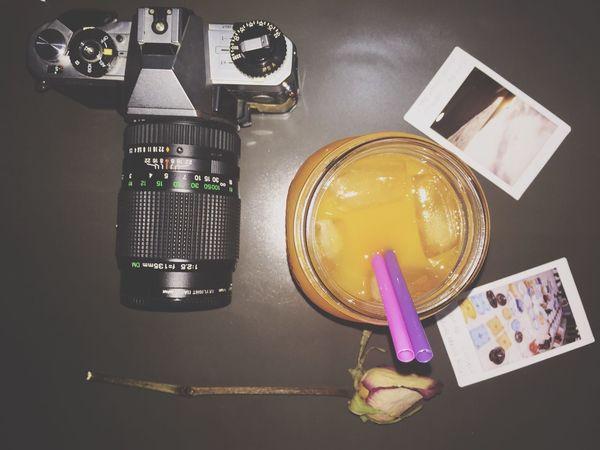 Liquid Lunch Polaroid Pictures Juice Ice Rose🌹 Enjoying Life