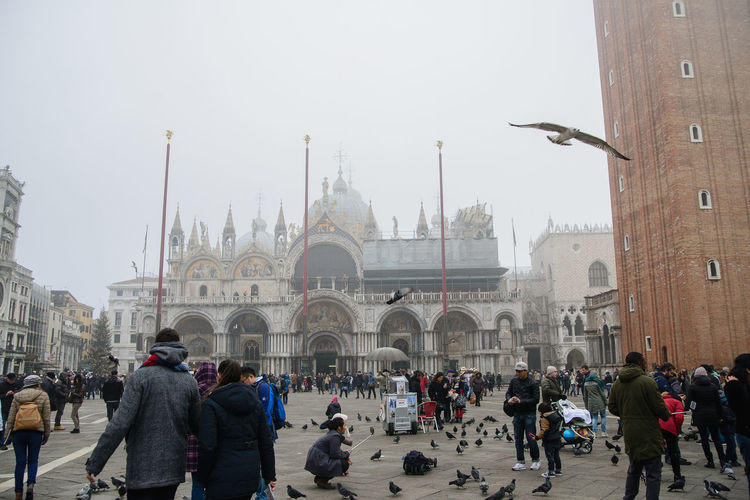 Crowd Large Group Of People Architecture Group Of People Building Exterior Built Structure Real People Travel Destinations Tourism Religion Travel Place Of Worship Belief History The Past Sky Tourist Spirituality Arch Outdoors San Marco Square Venice