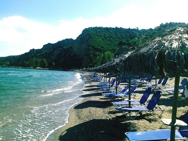 GREECE ♥♥ Blue Wave Mediterranean Sea. Nature Greece Water Travel Peaceful Relaxing Sun And Beach Beautiful Day Gytheio Breathtaking Mountains And Sea Simply Beautiful Enjoying Life ♥ Relaxing Moments Sea Of Tranquility Thatched Roof Ocean Of Dreams Eternal Peace Water_collection Beach Photography Beach Life SUN WATER AND BEACH