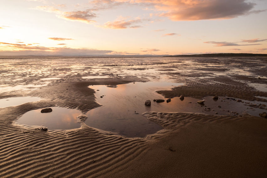 Somerset England Sunset Beach Sunset_collection Tidal Pools Beach Beauty In Nature Cloud - Sky Coastal Dusk Horizon Over Water Nature No People Outdoors Sand Sand Dune Scenics Sea Seascape Shore Sky Sun Sunset Tranquil Scene Tranquility Water
