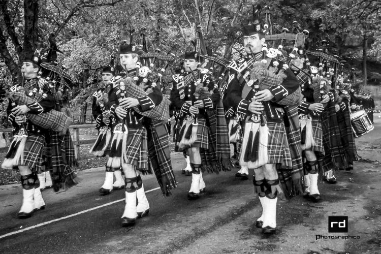 Piping to Church 1984 (The 1st Bn The Royal Scots) Check This Out Eye4black&white  Black & White Military Bands