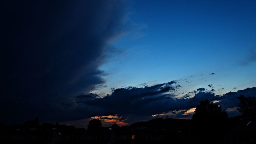 Bad Weather Thunderstorm Salzburg, Austria Sky Blue Clouds