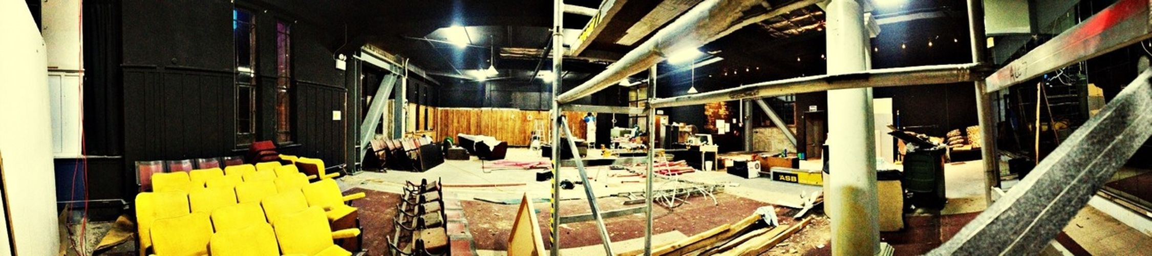 The beginnings of awesome!! The construction at Eight Ball. Don't Be Square