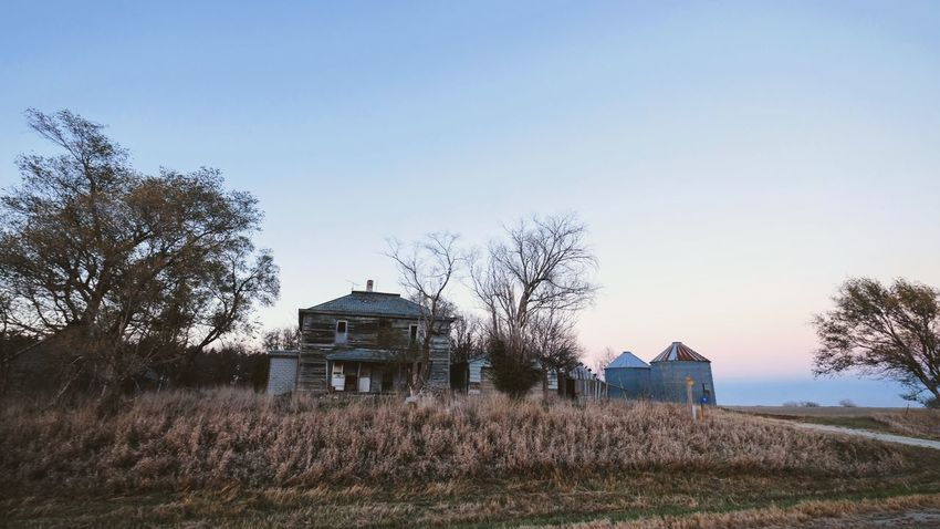 Visual journal - Southeast, Nebraska December 2016 A Day In The Life Architecture Bare Tree Building Exterior Built Structure Camera Work Clear Sky Day EyeEm Best Shots Fujifilm My Neighborhood Nature Nebraska No People Outdoors Photo Diary Rural America Sky Small Town Stories Storytelling Tree Visual Journal