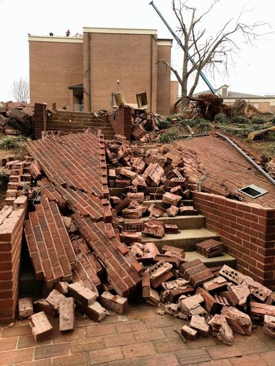 University Campus Jacksonville State University After The Tornado Destruction Architecture Built Structure Building Exterior Building Day No People