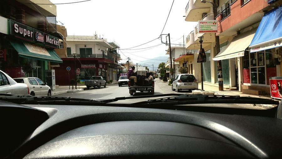 Travel Car Transportation Drive Pick-up Truck Metod Of Transport Greece, Crete