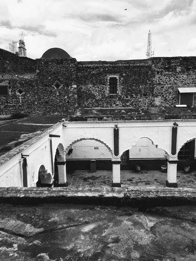 Structure History Old Antique Black And White Exconvento Claustro Convento Pueblo Mágico Salvatierra