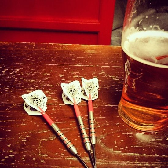 Think i'll leave it to the pros Darts RedLion Pub Arrows CiderBlack