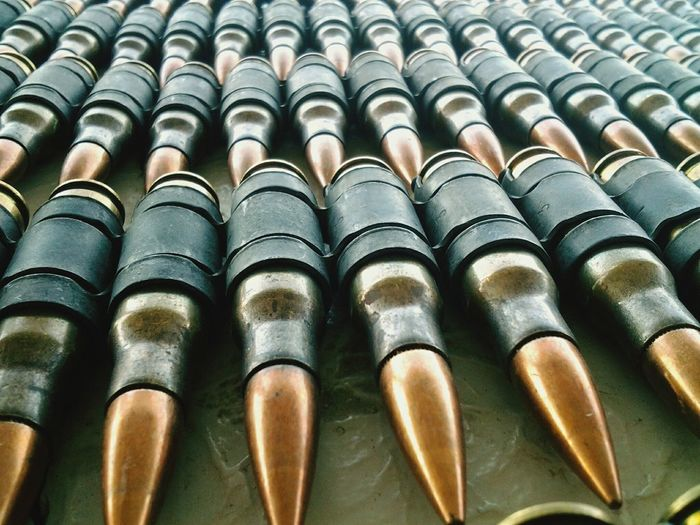 Full Frame Shot Of Bullets