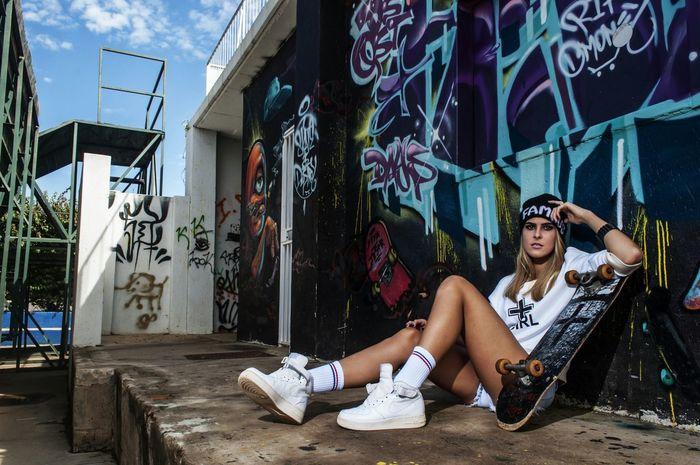 Katelyn Pretoria Skater Girls Legs Photography Marius Bester Nike Sneakers Hipstergirl Photooftheday