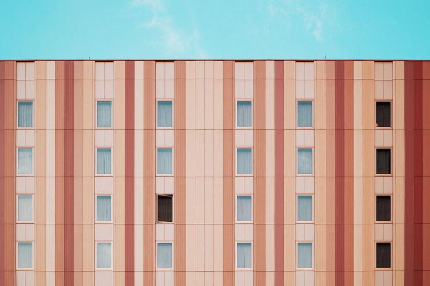 Architecture Architecture Built Structure Colors Façade Geometry Neatly Arranged Stripes Pattern Symmetry Windows The Graphic City Colour Your Horizn