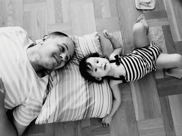 Dad Sweden MyDaughters Girl Nature Summer Blackandwhite Blackandwhite Childhood Child Lying Down Stuffed Toy Baby Lying On Back Girls Sleeping Toddler  Napping