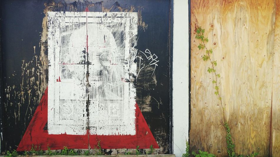 Gandhi mural West Windsor. Day Text No People Communication Outdoors Close-up Architecture Pixelated Weathered Decay Old