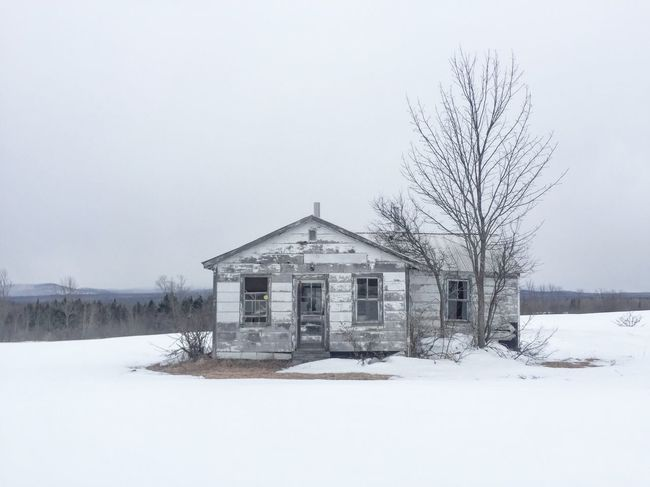 Desolate. Winter Snow Architecture House Frozen Desolate Alone Maine