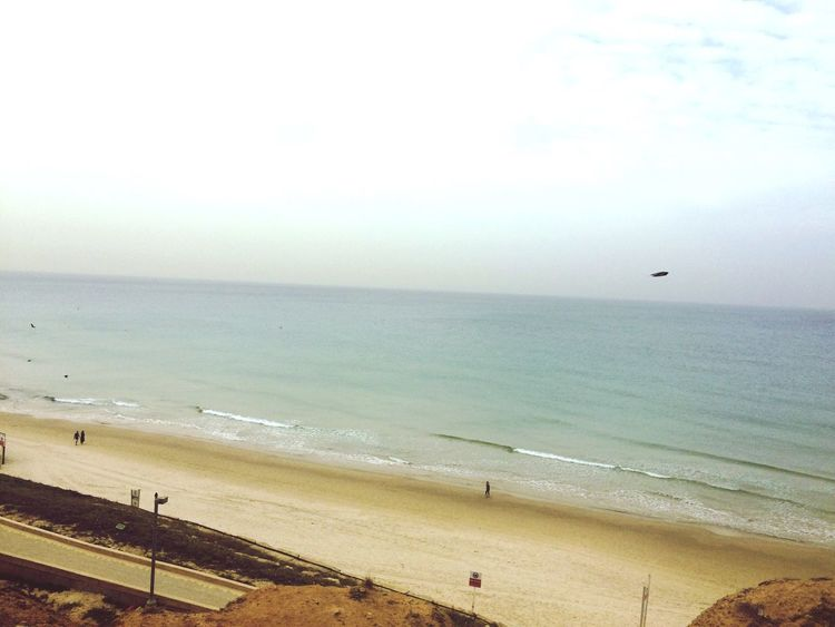 Good Morning Sea Beach Overhead View Horizon Over Water Water Scenics Beauty In Nature Nature Sky Sand Outdoors Day Bird No People