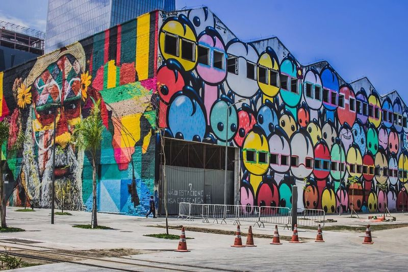 Multi Colored Built Structure Building Exterior Architecture Outdoors Day City No People Sky Rio De Janeiro City Tourism Boulevard Boulevard Olimpico Travel Destinations