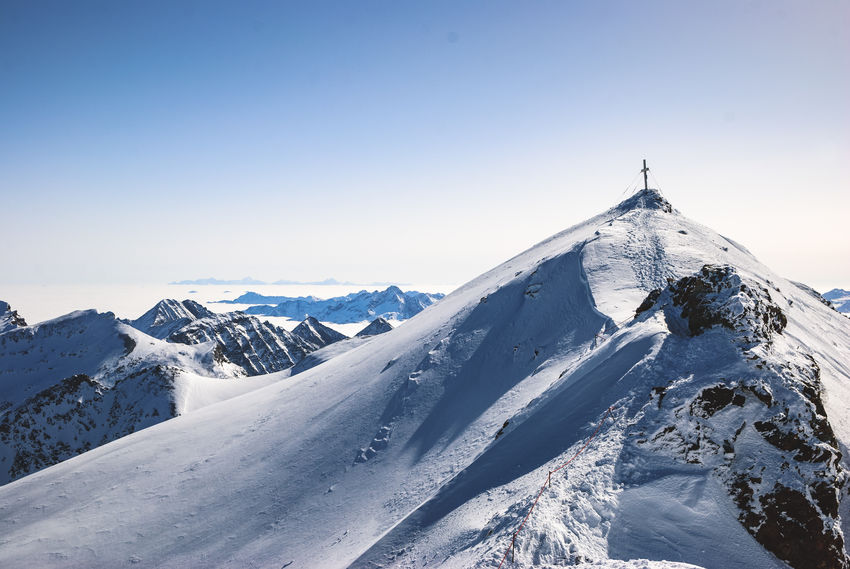 View from Mölltaler Gletscher in austrian Alps Alps Beauty In Nature Cold Temperature Day Extreme Sports Glacier Landscape Mountain Mountain Range Nature No People Outdoors Scenics Sky Snow Snowcapped Mountain Tranquility Winter Shades Of Winter An Eye For Travel
