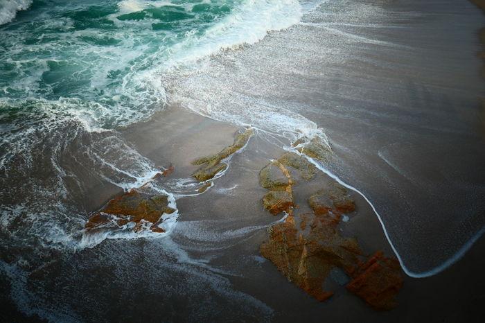 Feliz lunes ! a new beginning EyeEmNewHere Lumix Panasonic  Waves, Ocean, Nature Waves The Purist (no Edit, No Filter) No Edit/no Filter Water Wave Sea Beach Backgrounds Textured  High Angle View Close-up