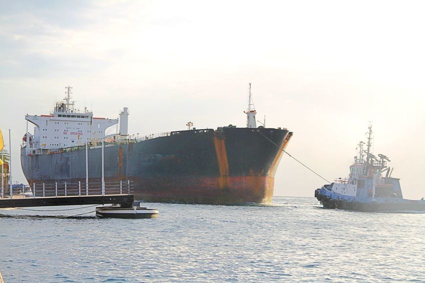 Cargo Container Container Ship Day Harbor Industry Nautical Vessel Outdoors Pilot Ship Sea Shipping  Transportation