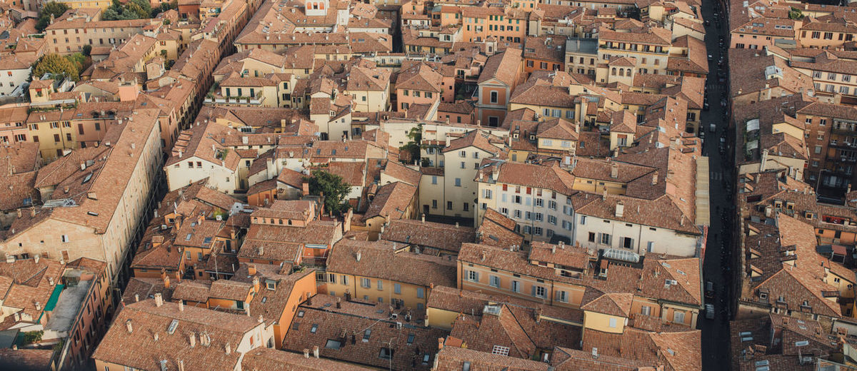 Bologna Aerial View Architecture Building Exterior Built Structure City Cityscape Day High Angle View No People Outdoors Roof Travel Destinations