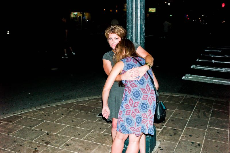 Leicacamera UNPOSED Candid Austin Texas City Street Flash Photography Drunk Holding On Streetphotography Woman Nightphotography Night Life