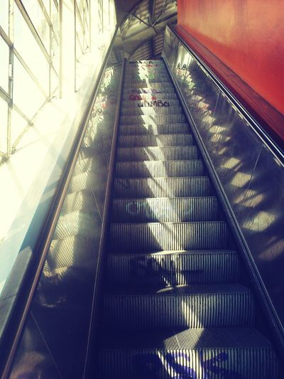 Subway Escalator Berlin Sunday