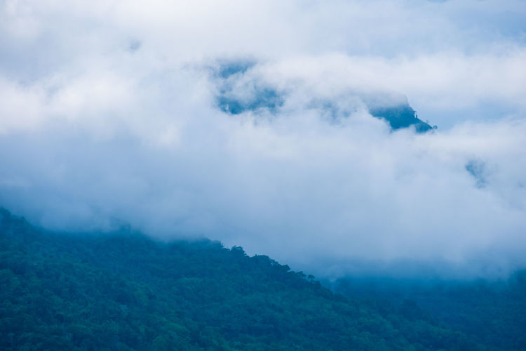 Cloud - Sky Sky Beauty In Nature Scenics - Nature Tranquil Scene Non-urban Scene Tranquility Nature Day No People Environment Landscape Mountain Cloudscape Outdoors Idyllic Land Fog White Color Champasak Laos LAO Nature Mist Southernlaos