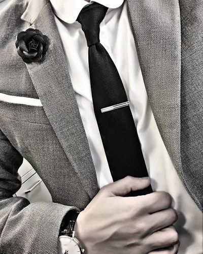 Midsection Of Well-Dressed Man