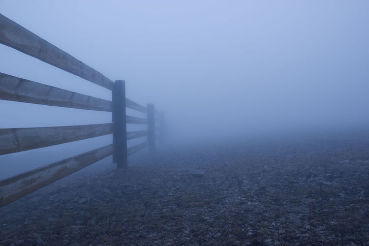 Silent Hill Environment Fence Fog Hazy  Nature No People Tranquil Scene Wood - Material 17.62°