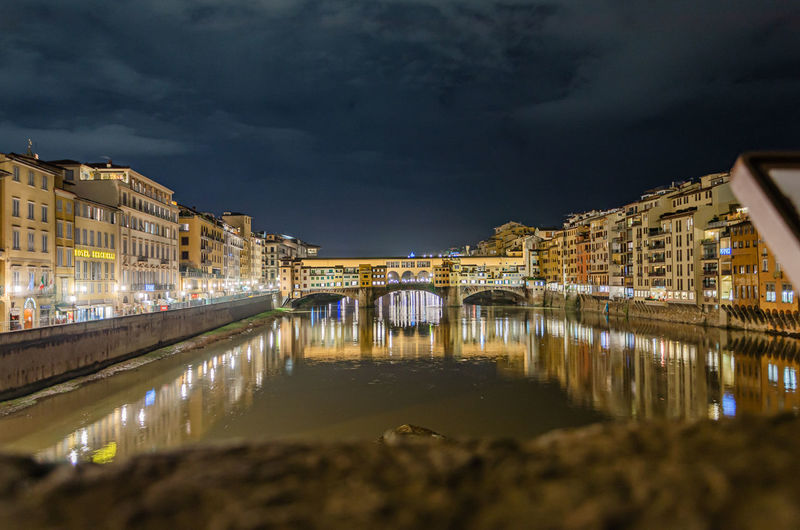 F-light festival at the ponte vecchio in florence