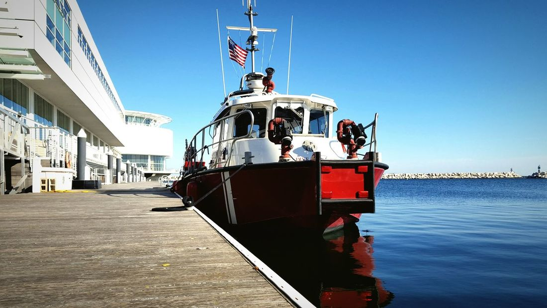 Waterfront Here Belongs To Me Wisconsin Life Water Lake Michigan Nautical Vessel Boat Moored Vibrant Color Port Of Milwaukee