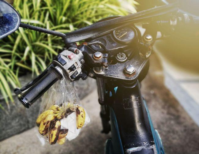 EyeEm Selects Banana Motocycle Motobike Close-up No People Day Outdoors Vintage Old Fashion
