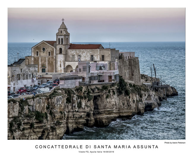 Apúlia Italia Vieste Puglia Architecture Building Exterior Horizon Over Water Italy Sea Travel Destinations Vieste Water