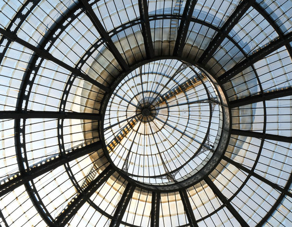 Architectural Feature Architecture Backgrounds Built Structure Concentric Cupola Day Dome Full Frame Indoors  Lines And Shapes Mailand No People Pattern The Architect - 2017 EyeEm Awards Window