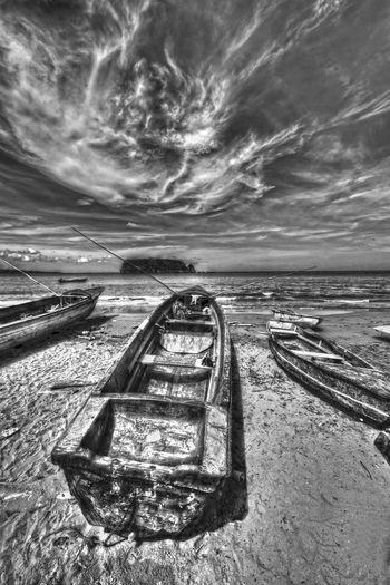 Cabarita Island Caribbean Sea Pagee Beach Beach Fishing Boat Jamaica Port Maria, Jamaica Sea And Sky